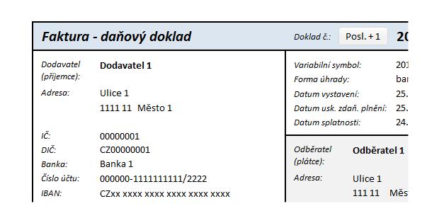 Ep Faktury šablona Faktur Pro Plátce Dph Proexcelcz
