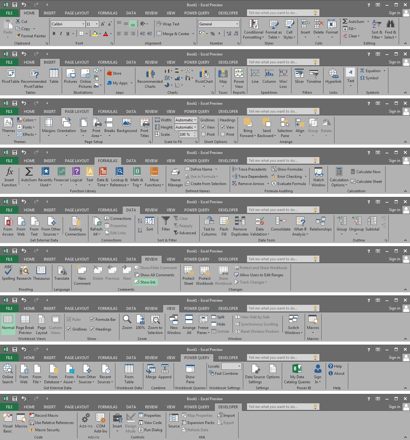 Excel 16 - Pás karet