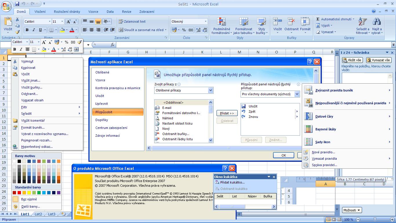 Excel 2007 - okno