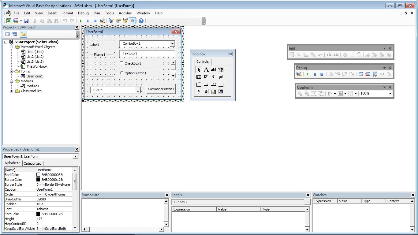 Excel 2013 - editor makra