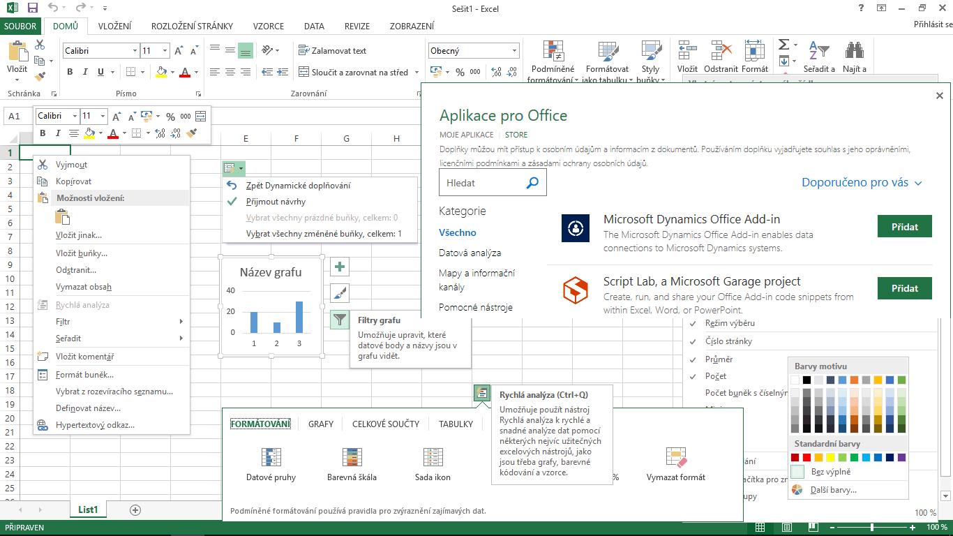 Excel 2013 - okno