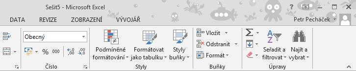 Excel 2013 - pozadí Office