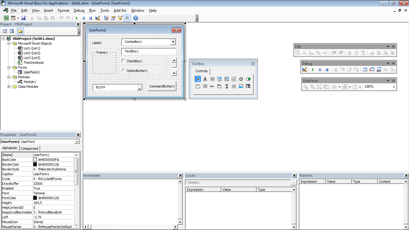 Excel 2016 - editor VBA
