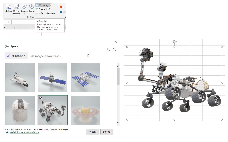 Excel 365 - 3D modely