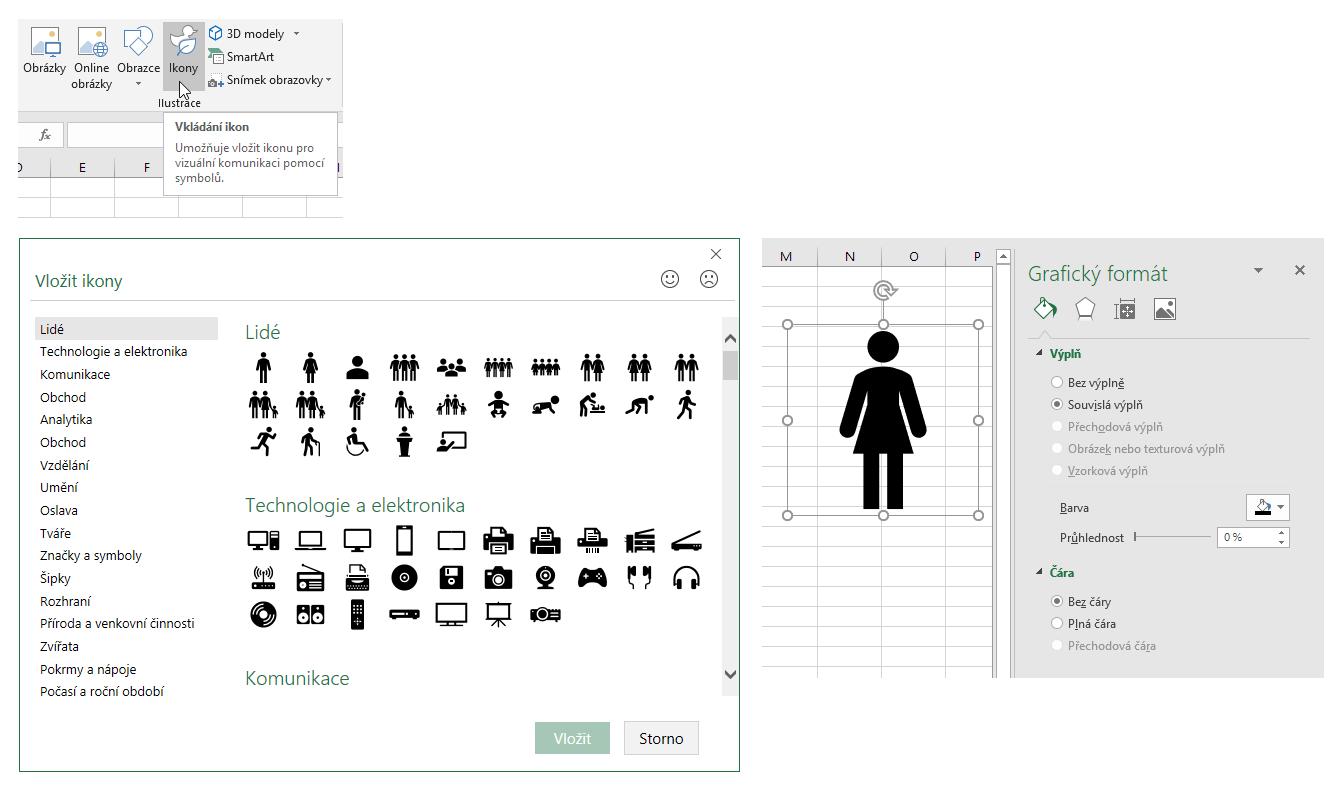 Excel 365 - ikony