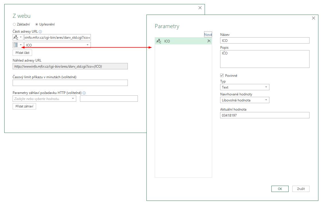 Excel - XML, PowerQuery, parametr