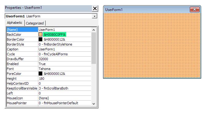 Barvy na formuláři