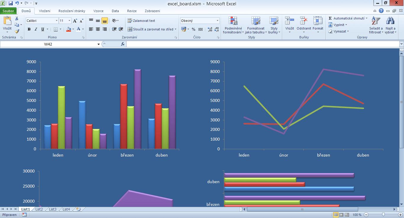Excel Board - příprava