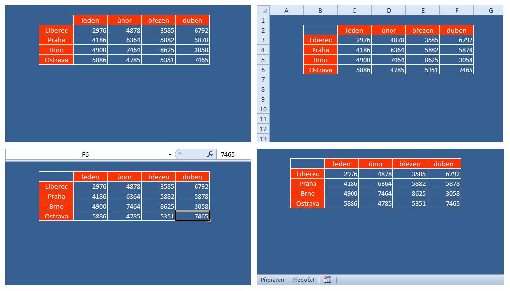 Excel Board - full screen - možnosti zobrazení v režimu List