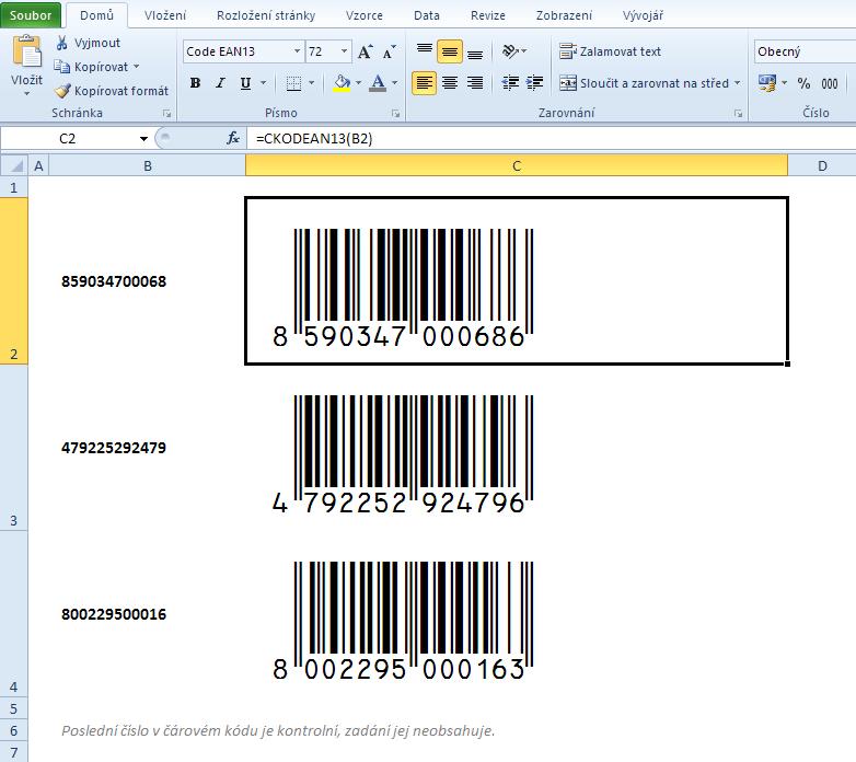 Čárový kód EAN-13