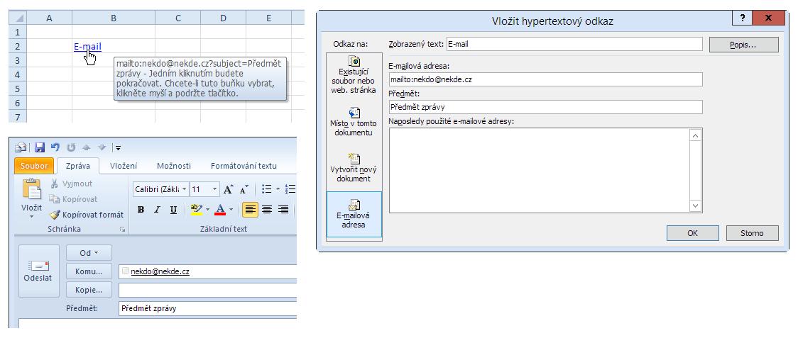 Hypertextový odkaz - nový e-mail