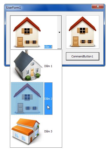 Ovládací prvky ImageCombo a ImageList v akci