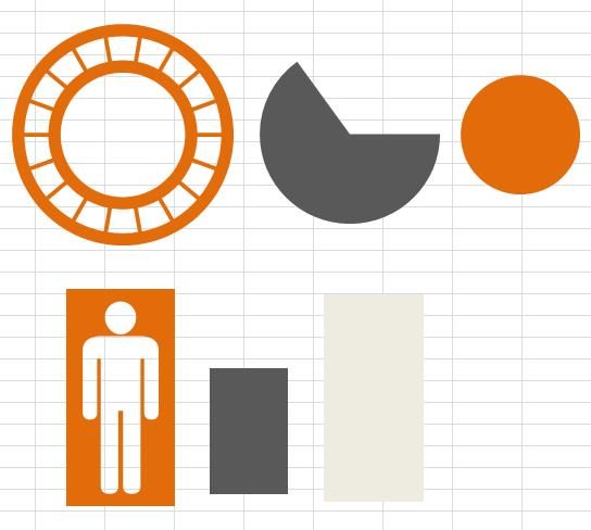 Infografika v Excelu - použité tvary