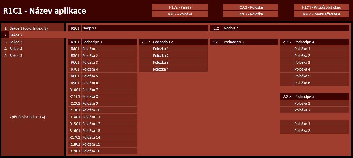 Moderní grafické menu v Excelu