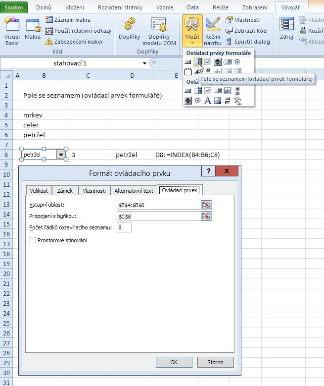 Pole se seznamem (ovládací prvek formuláře)