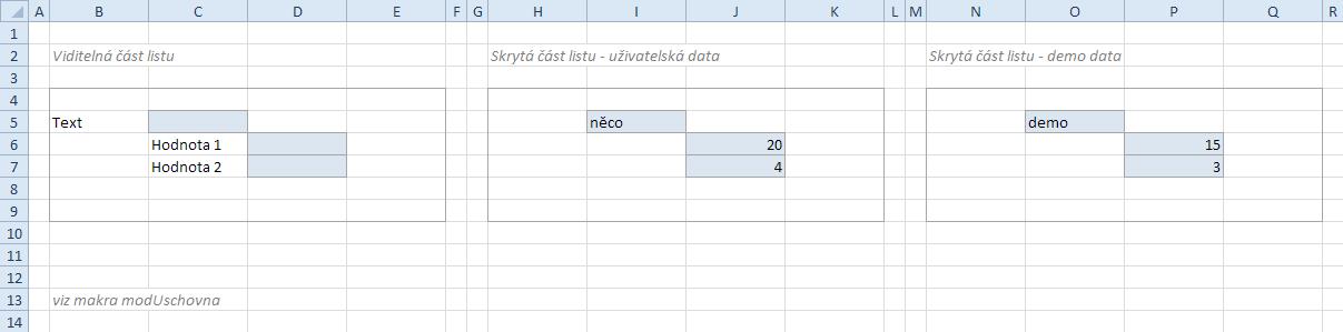 Úschovna pro zálohu a demo data