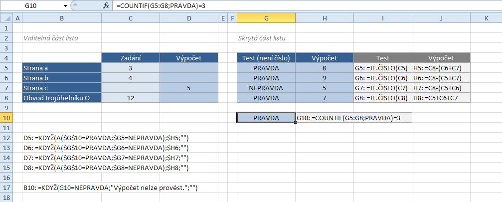 Zrcadlo pro variabilní parametry výpočtu