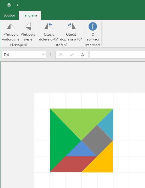 Tangram v Excelu