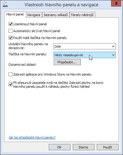Windows - seskupování zástupců na systémové liště
