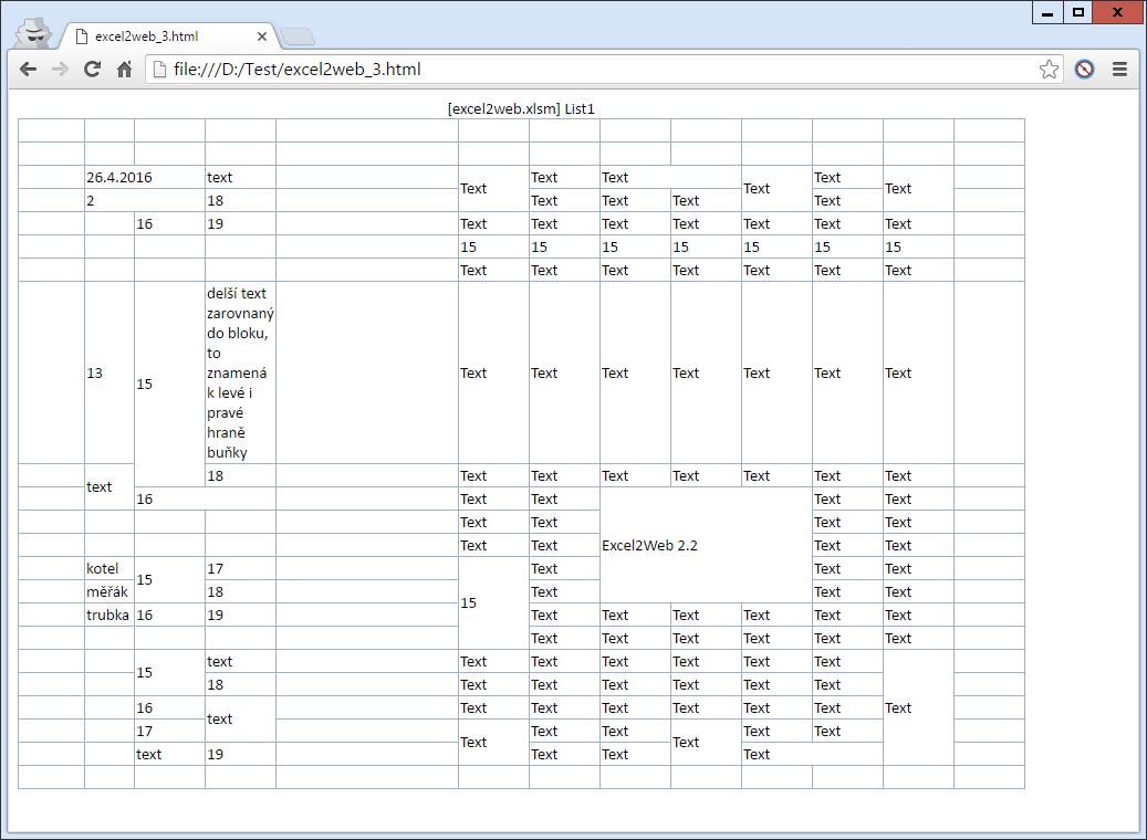 Excel2Web - prostý kód  (5,2 kB)
