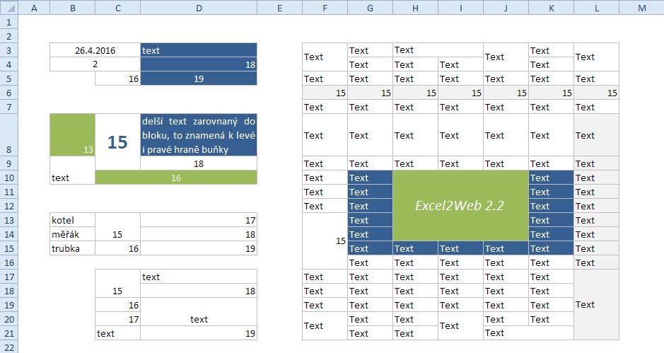 Excel - originál tabulky na listu