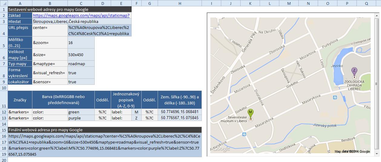 Google mapy - statický obrázek
