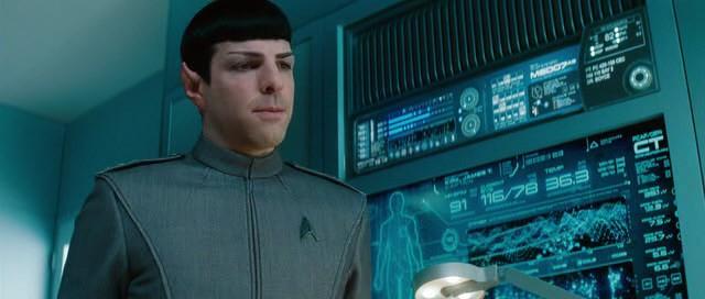 Star Trek - Do temnoty (infografika na panelu)