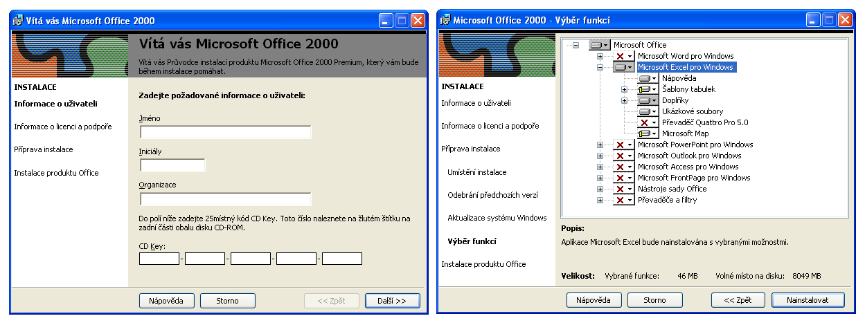 Office 2000 - instalátor