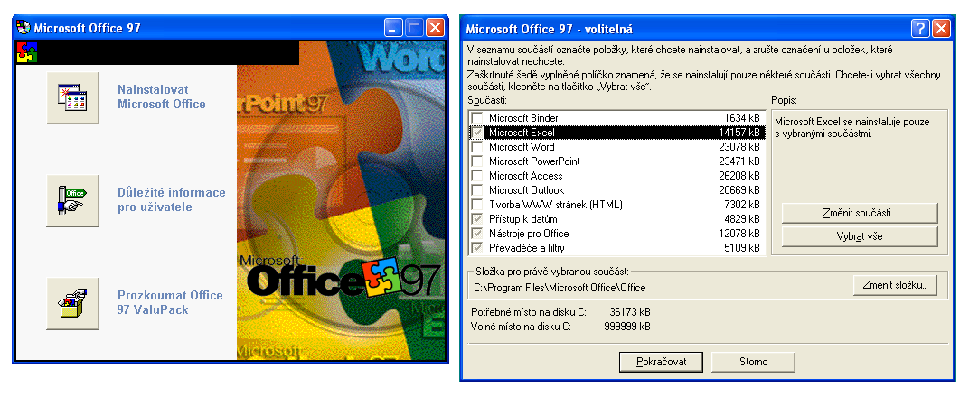 Office 97 - instalátor