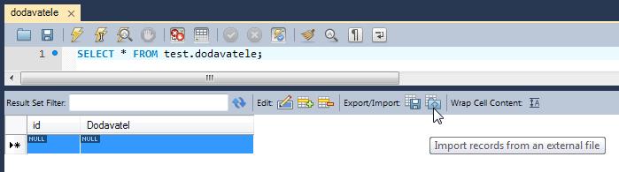 Import CSV souboru do MySQL