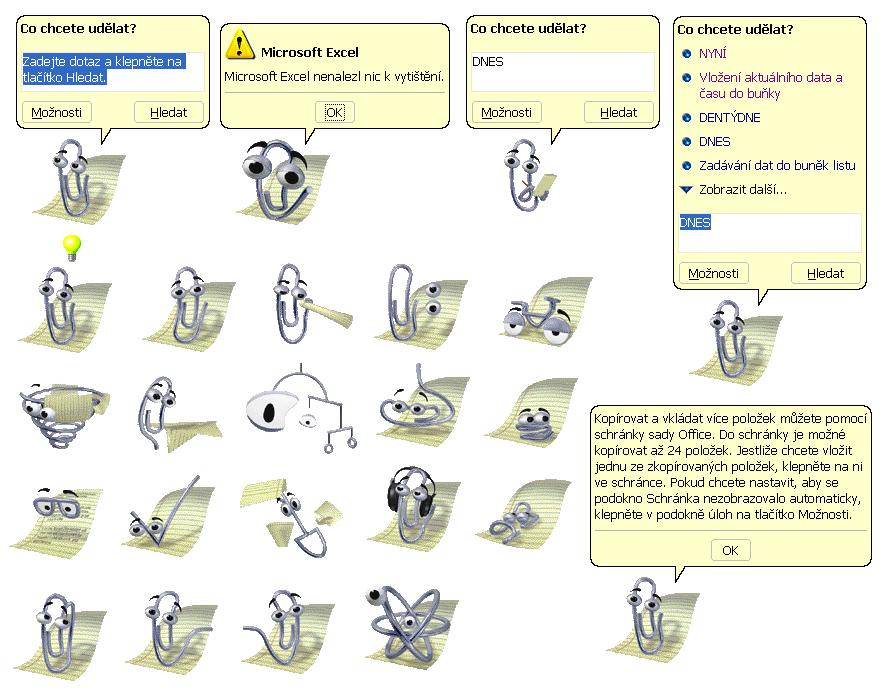 Pomocník - Svorka v Office XP