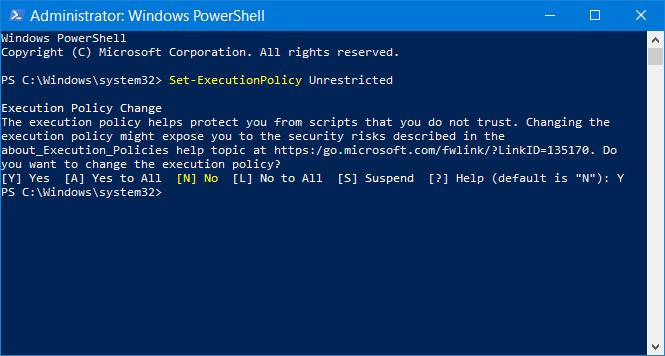 PowerShell - práva ke spouštění skriptů