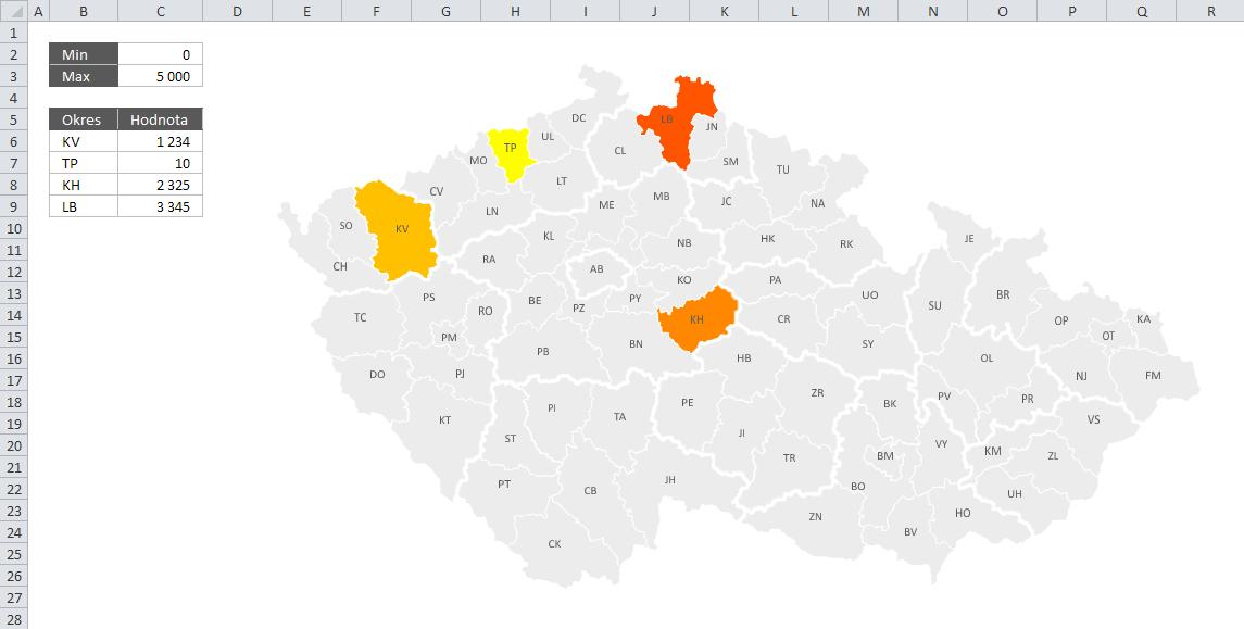 Mapa PE - Příklad 1