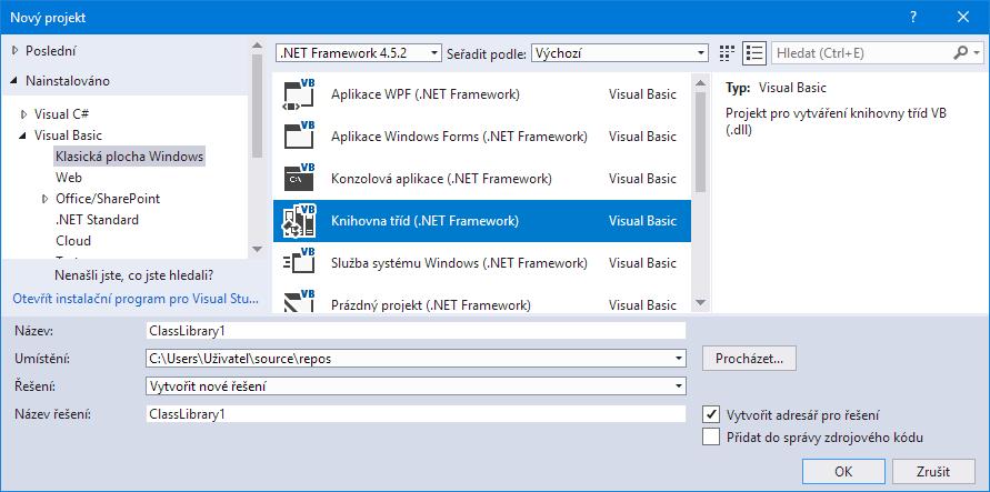 Visual Studio - třída