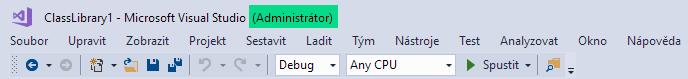 Visual Studio - práva správce