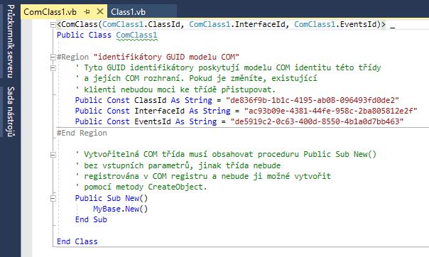 Třída COM - kód