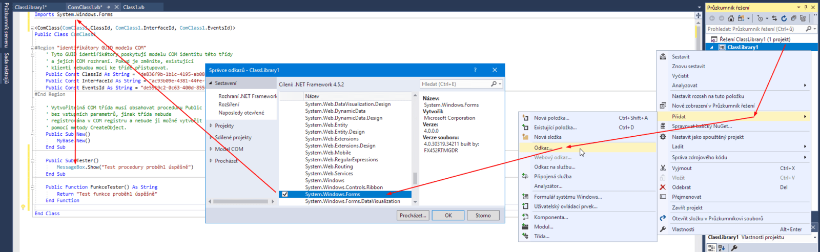 Visual Studio - reference