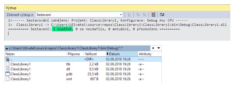 Visual Studio - sestavení projektu